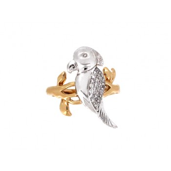 14YW PARROT RING W/ ...