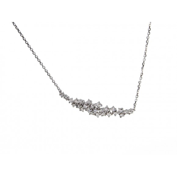 14KW MILKY-WAY NECKLACE W/ DIA