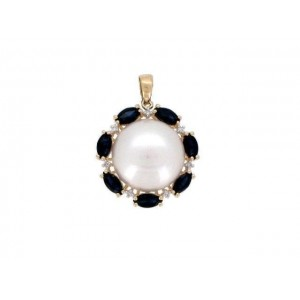 14KY PEARL PENDANT W...