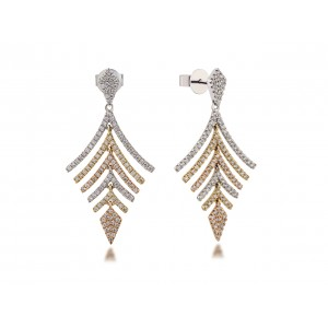 14KM LEAF EARRINGS W...