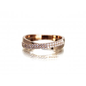 14KR CROSS BAND RING...