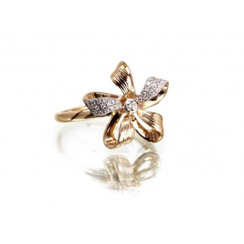 14KY FLORAL BOW RING...