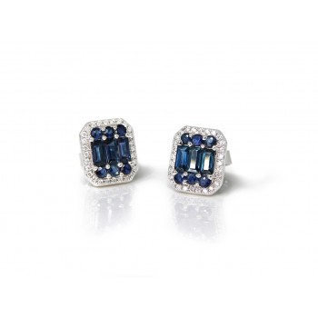 14KW STUD EARRINGS W...